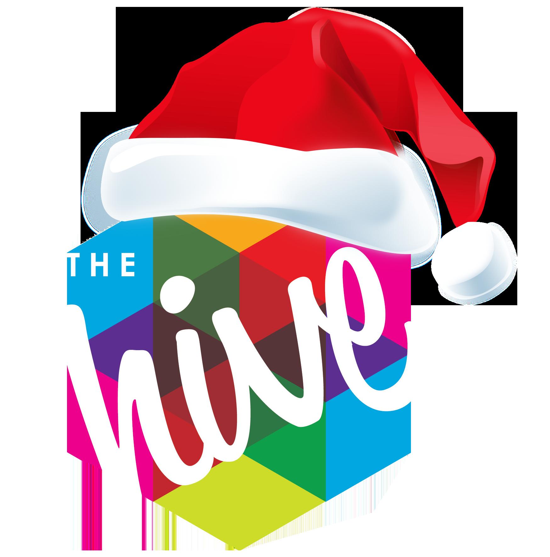 hive logo christmas hat