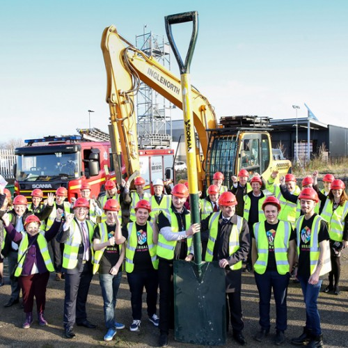 The Hive Breaks Ground